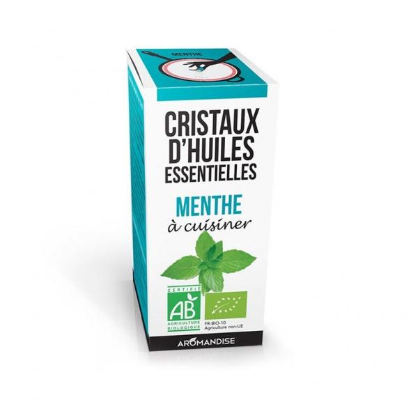 Cristaux d'huiles essentielles - Menthe - 10g