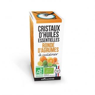 Cristaux d'huiles essentielles - Ronde d'agrumes