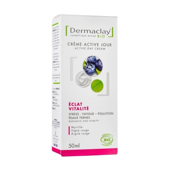Crème de jour bio éclat & vitalité Dermaclay