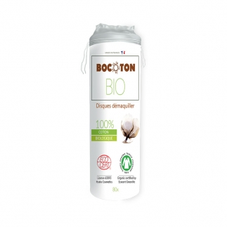Disques démaquillants coton bio Bocoton