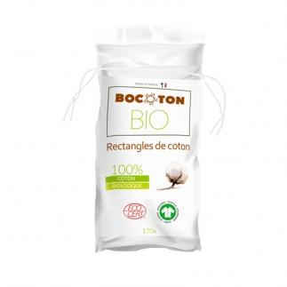 Rectangles de coton bio Bocoton
