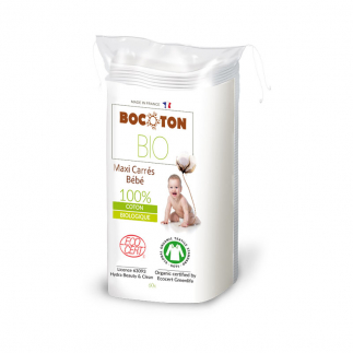 Maxi carrés de coton bio bébé Bocoton