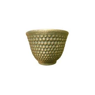 Tasse en fonte Vert et or