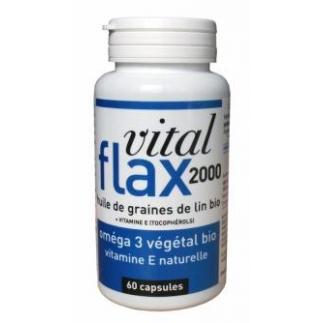 Vital flax 2000 - Défenses immunitaires - 60 capsules - DLV 07/18