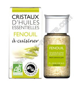 Cristaux d'huiles essentielles - Fenouil