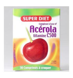 Acérola vitamine C 500 - 30 comprimés