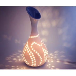 Lampe diffuseur d´arômes Lightlia en porcelaine blanche
