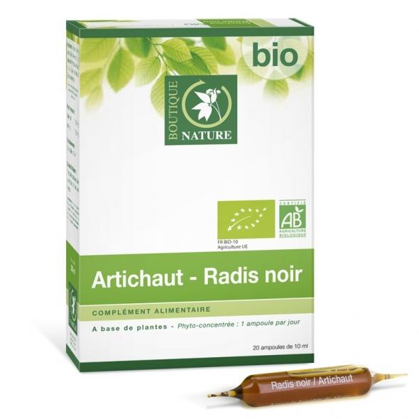 Artichaut - Radis Noir bio Phyto-Concentré - 20 ampoules