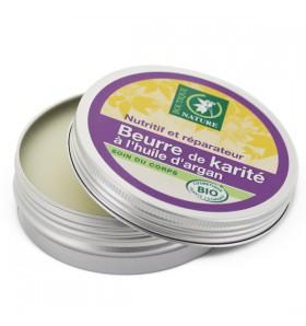 Beurre de karité à l'huile d'Argan bio - 100 ml