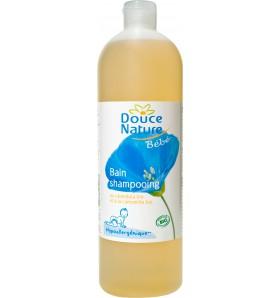 Bain shampooing bébé hypoallergénique au calendula et camomille bio - 1 litre