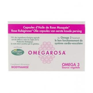 Omegarosa - Huile de Rose Musquée bio - 60 capsules