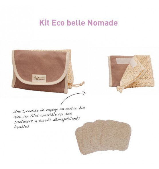 Kit Eco belle nomade coton BIO - 4 carrés