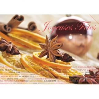 Carte postale à encens - Joyeuses Fêtes