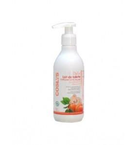 Lait de toilette bébé nettoyant sans rinçage à l'abricot bio - 250 ml