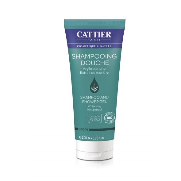 Shampooing douche sport bio - Menthe, Argile blanche - 200 ml