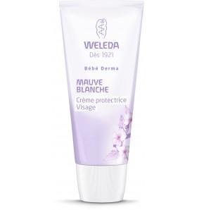 Crème protectrice visage à la mauve blanche bio - Bébé Derma - 50 ml