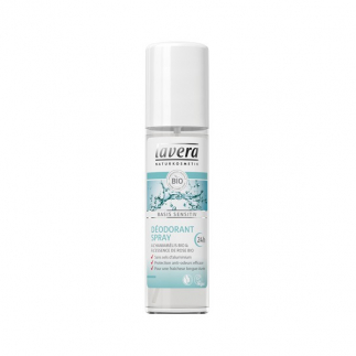 Déodorant spray Hamamélis et rose bio - Basis Sensitiv - 75 ml