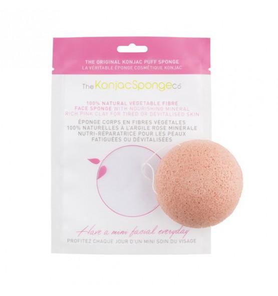 Eponge KONJAC à l'argile rose pour le visage - peau fragilisée