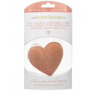 Eponge KONJAC pour le visage en forme de coeur