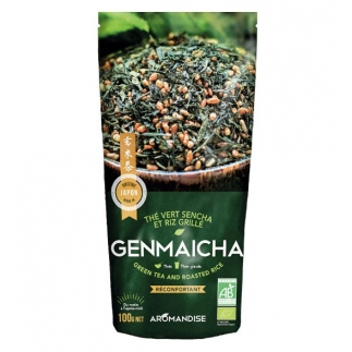 Thé vert et riz Genmaicha bio - 100g