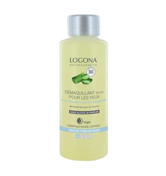 Démaquillant doux pour les yeux Aloe vera bio et huile d'amande douce - 100 ml