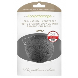 "Eponge Konjac ""Gentleman"" - Charbon de bambou"