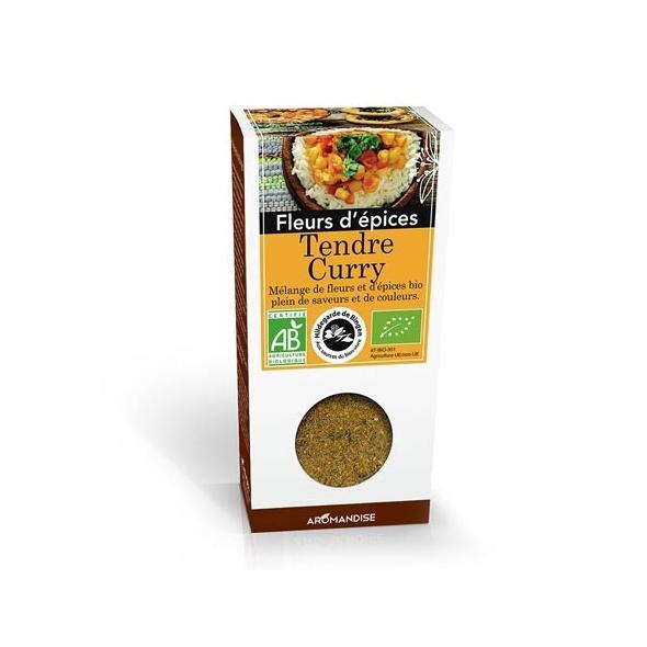 Fleurs d'épices bio - Tendre Curry - 40g