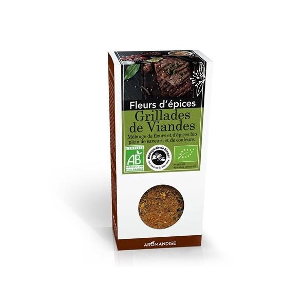 Fleurs d'épices bio - Grillades de viandes - 75g