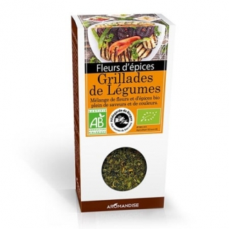 Fleurs d'épices bio - Grillades de légumes - 20g