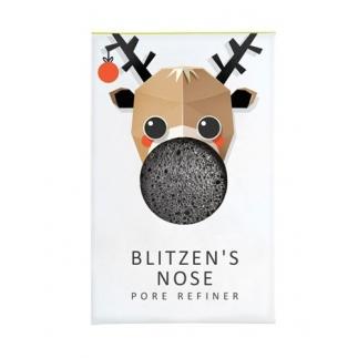 Mini Eponge Konjac au charbon de bambou - Blitzen's nose Edition limitée Noël