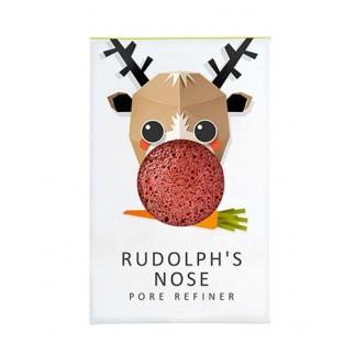 Mini Eponge Konjac enrichie en argile rouge - Rudolph's nose Edition limitée Noël