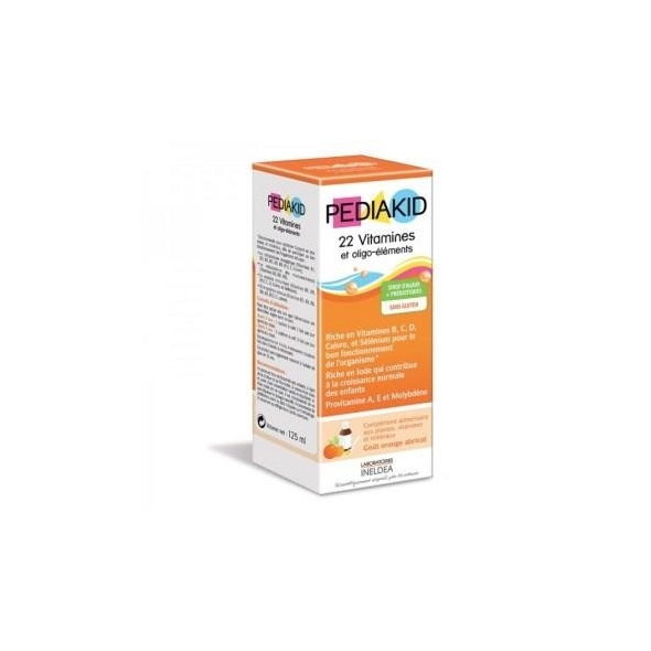 Sirop 22 vitamines et Oligo-éléments - goût abricot/orange - 125 ml