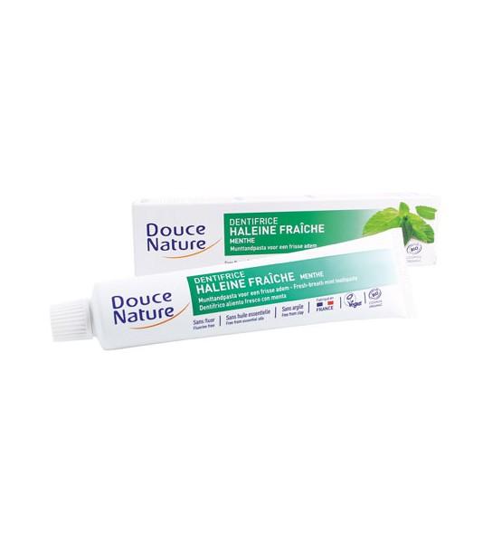 Dentifrice menthe haleine fraiche