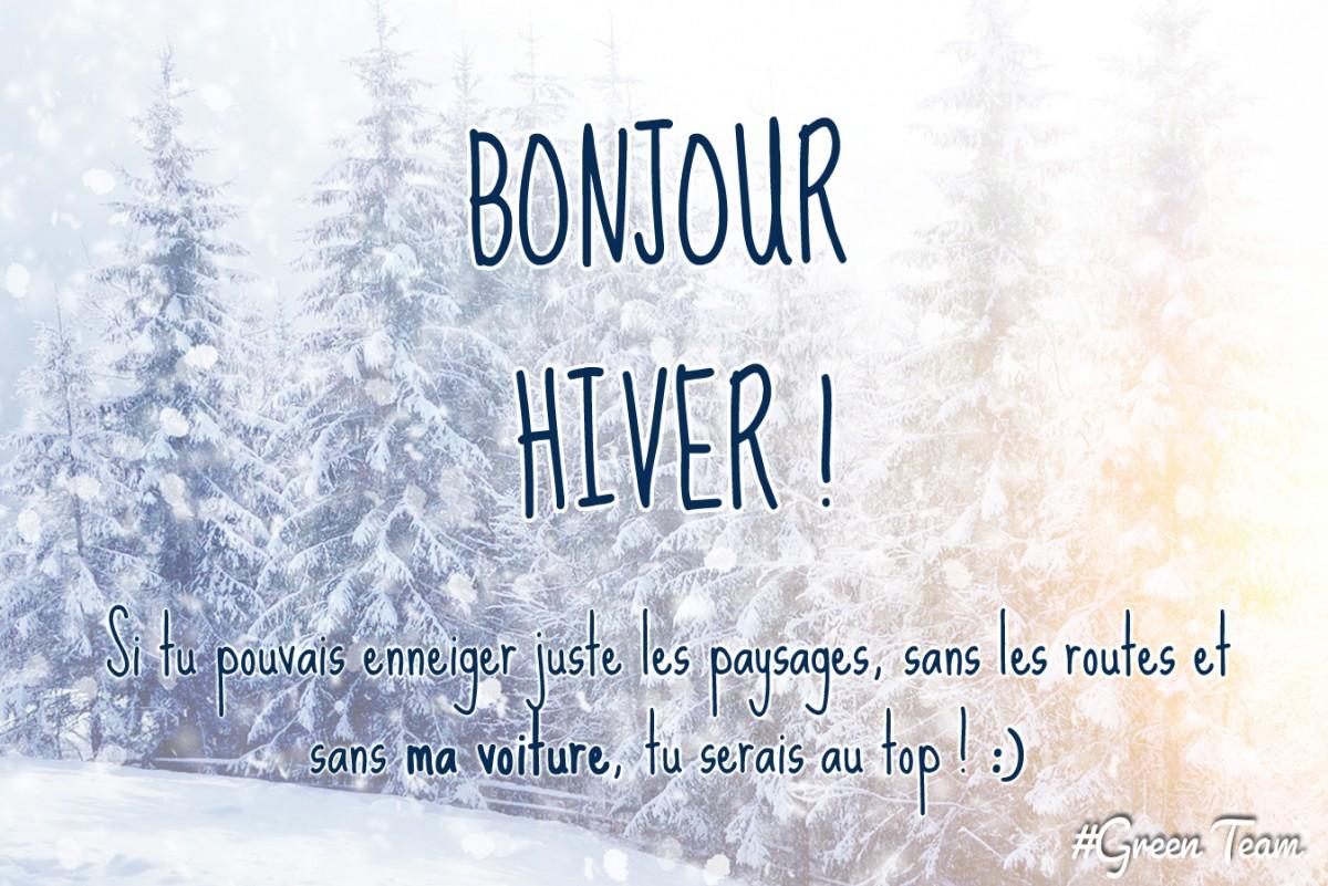 Bonjour Hiver