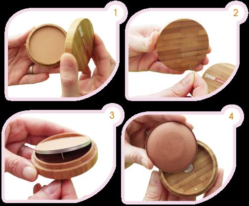 tutoriel recharge terre cuite zao make up