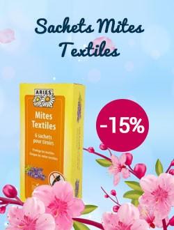 -15% sur les sachets mites textiles Ariès