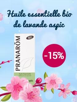 -15% sur l'huile essentielle lavande Aspic bio Pranarôm