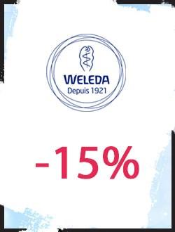 -15% sur les cosmétiques bio Weleda
