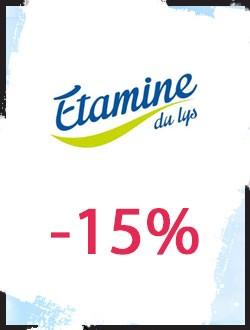 -15% sur les produits d'entretien Etamine du Lys